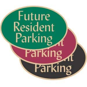 """Visitor Parking Signs - """"Future Resident"""" Oval"""