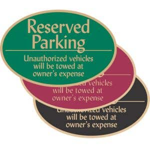 """Reserved Parking Signs - """"Reserved"""" Oval"""