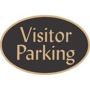 "Visitor Parking Signs - ""Visitor Parking"" Oval"