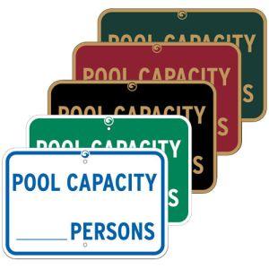 """Pool Signs - """"Pool Capacity"""""""