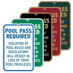 Pool Signs -