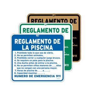 "Pool Signs - ""Pool Rules"" Spanish"