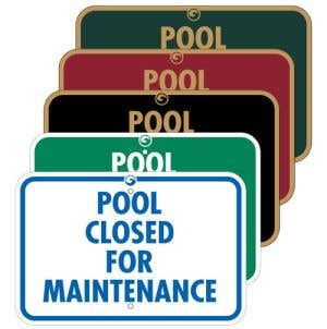 """Pool Signs - """"Pool Closed for Maintenance"""""""