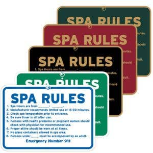 """Pool Signs - """"Spa Rules"""""""