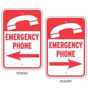 """Pool Signs - """"Emergency Phone"""""""
