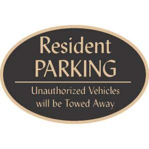 """Resident Parking Signs - """"Unauthorized"""" Oval"""
