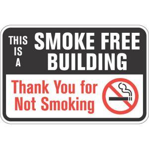 """No Smoking Signs - """"Smoke Free Building"""""""