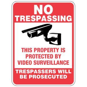"No Trespassing Signs - ""Surveillance"""