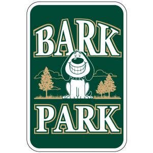 "Bark Park Sign - ""Bark Park"" Smiling Dog"