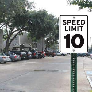 """Speed Limit Sign - """"10 MPH"""" Reflective"""