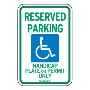 Handicap Parking Signs - Arizona