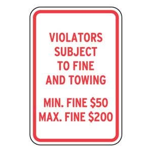 Handicap Parking Signs - Pennsylvania