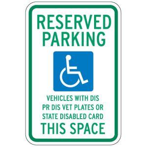 Handicap Parking Signs - Wisconsin