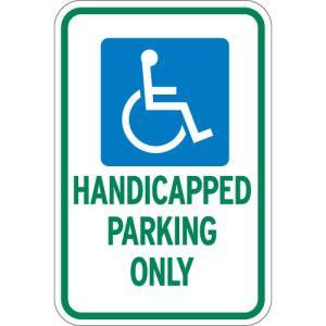 Handicap Parking Signs - Green
