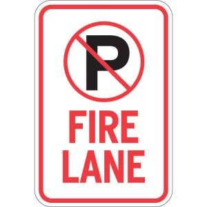 """Fire Lane Signs - """"No Parking"""""""