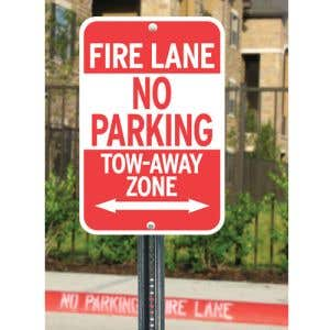 """Fire Lane Sign Kits - """"No Parking"""" with Arrows"""