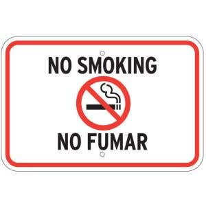 "No Smoking Signs - ""No Fumar"""