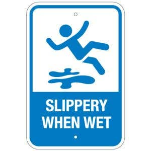 """Pool Sign - """"Slippery When Wet"""""""
