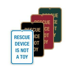 """Pool Signs - """"Rescue Device Is Not A Toy"""""""