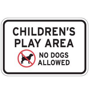 "Pet Area Sign - ""Children's Play Area"""