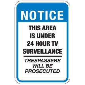 "Surveillance Signs - ""24 Hour TV Surveillance"""