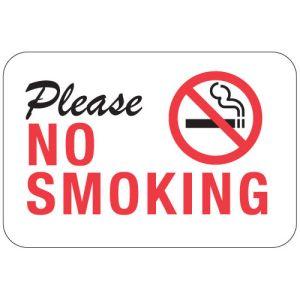 """No Smoking Signs - """"Please No Smoking"""""""
