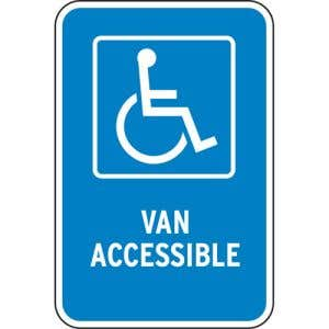 "Handicap Parking Signs - ""Van Accessible"""