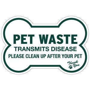 Pet Waste Sign - Die-Cut Bone