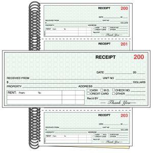 Rent Receipt Book - Standard - 2 Part