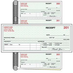 Rent Receipt Book - Custom Imprint - 2 Part