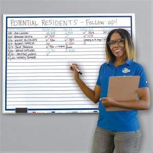 Dry Erase Marker Board with Lines