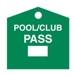 Pool Pass - Green - Blank