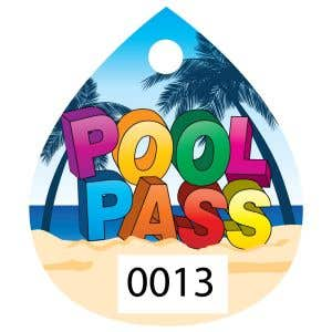 Pool Pass only. Key Ring sold separately.