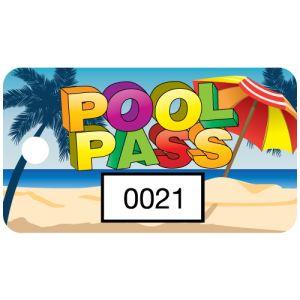 Pool Pass - Colorful Beach - Rectangular
