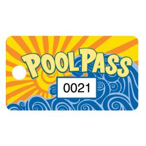 Pool Pass - Sunset and Wave - Rectangular