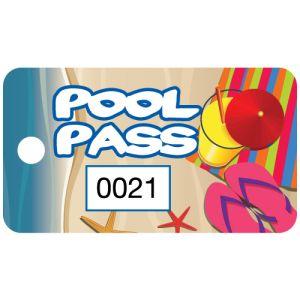 Pool Pass - Summer Vacation - Rectangular