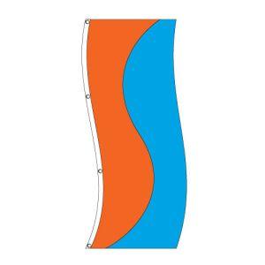 Vertical Flag - Orange and Ocean Blue