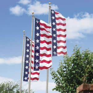 Eye-catching red, white and blue flag design!