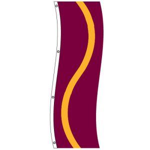 Vertical Flag - Burgundy, Gold, Burgundy
