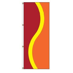 Vertical Flag - Dark Red, Yellow, Orange