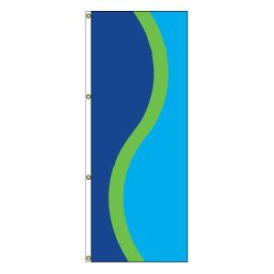 Vertical Flag - Royal Blue, Lime, Ocean Blue