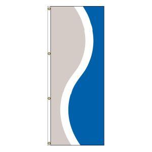 Vertical Flag - Silver, White, Royal Blue