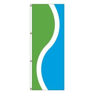 Vertical Flag - Lime, White, Ocean Blue