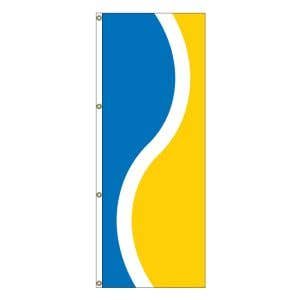 Vertical Flag - French Blue, White, Yellow