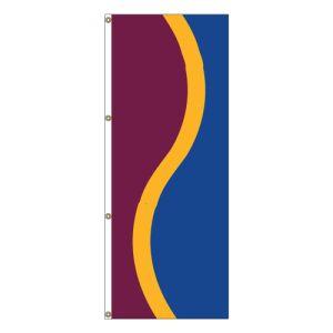 Vertical Flag - Burgundy, Gold, Royal Blue