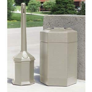 Cigarette Receptacle and Trash Can Kits