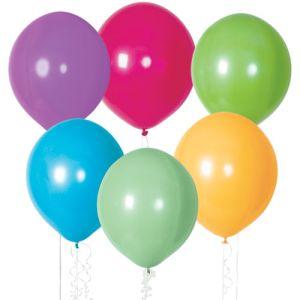 "11"" Latex Balloons - Tropical Colors"