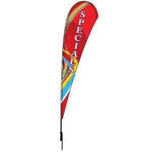 Tear Drop Flag - Red Swirl - 10' Kit