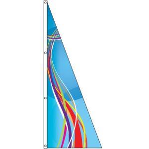 Triangle Flag - Blue Swirl