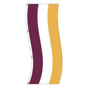 Vertical Flag - Burgundy, Gold Stripe